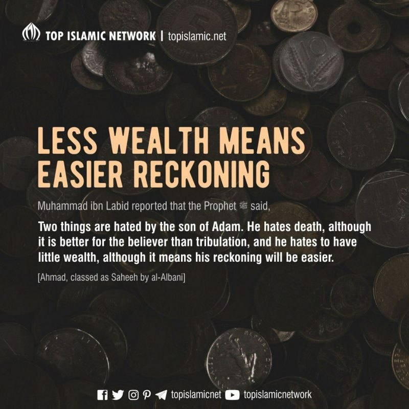 less wealth