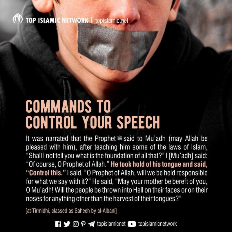 command to control your speech