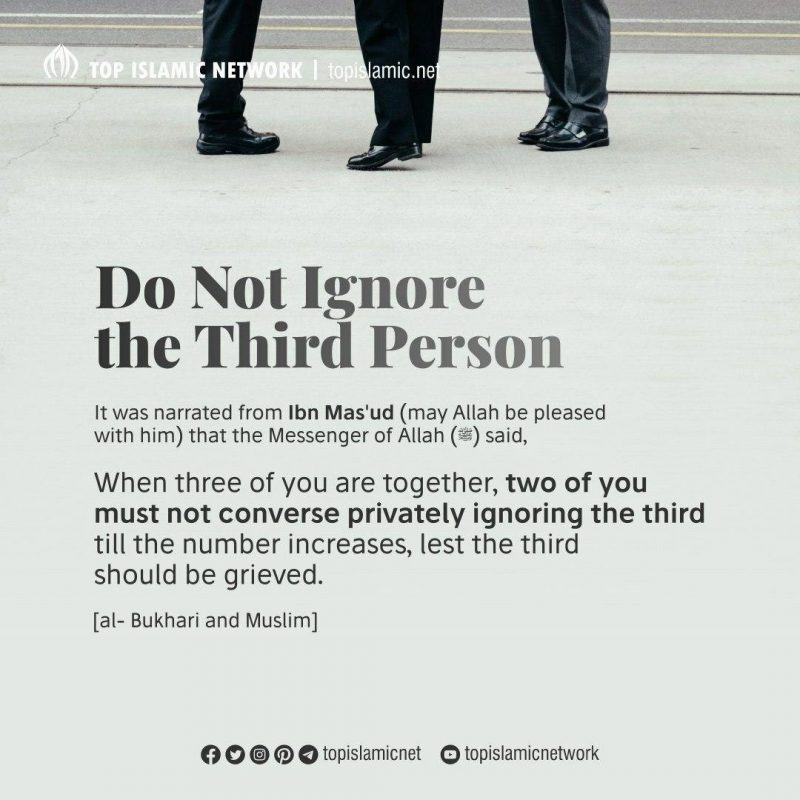 ignore third person