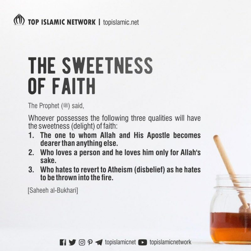 sweetness of faith