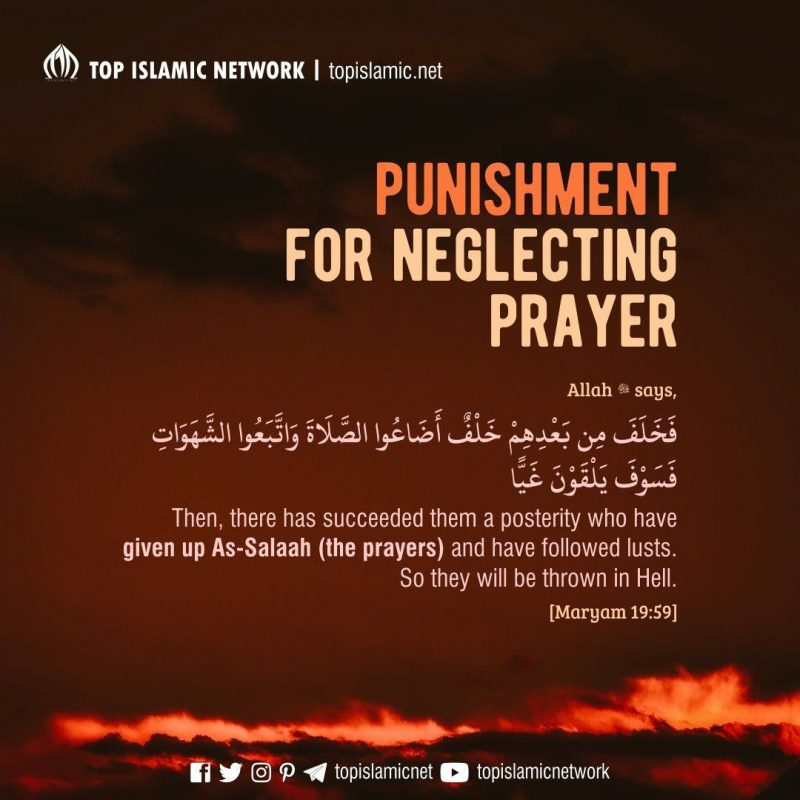 Punishment for Neglecting Prayer