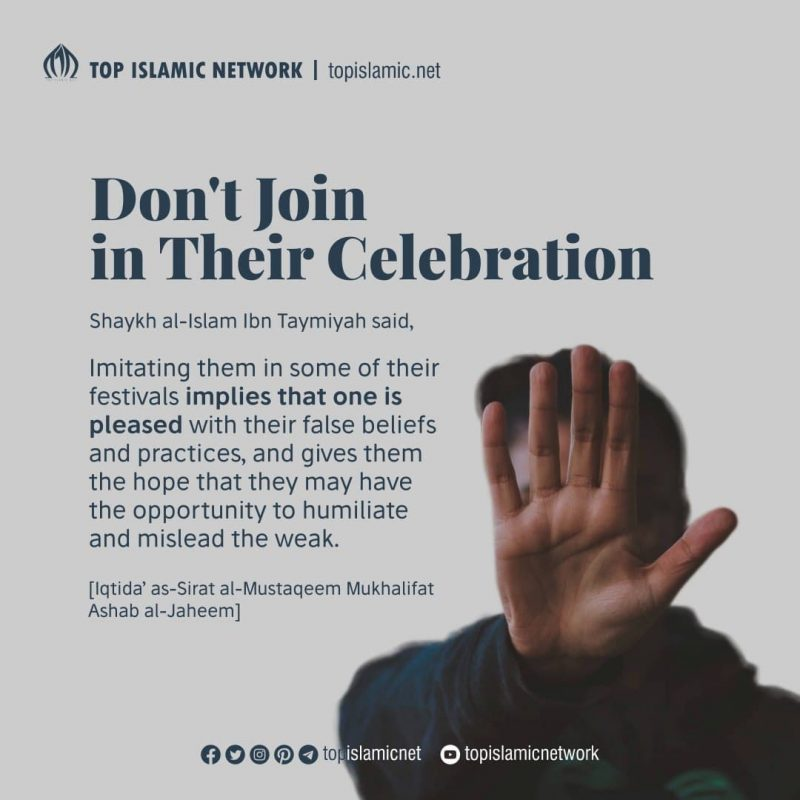 Don't Join in Their Celebration