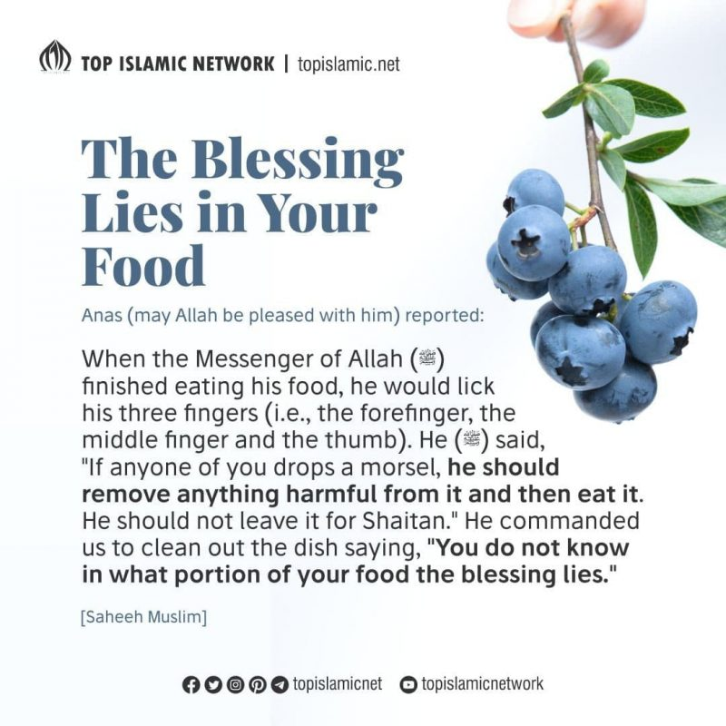 the blessing in your food
