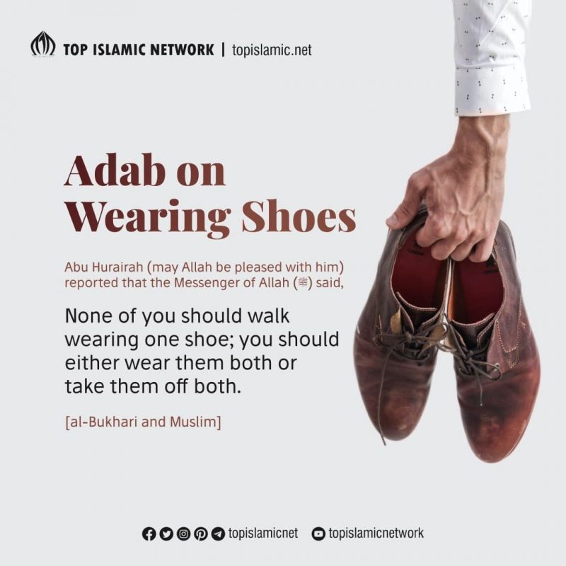 manner wearing shoes